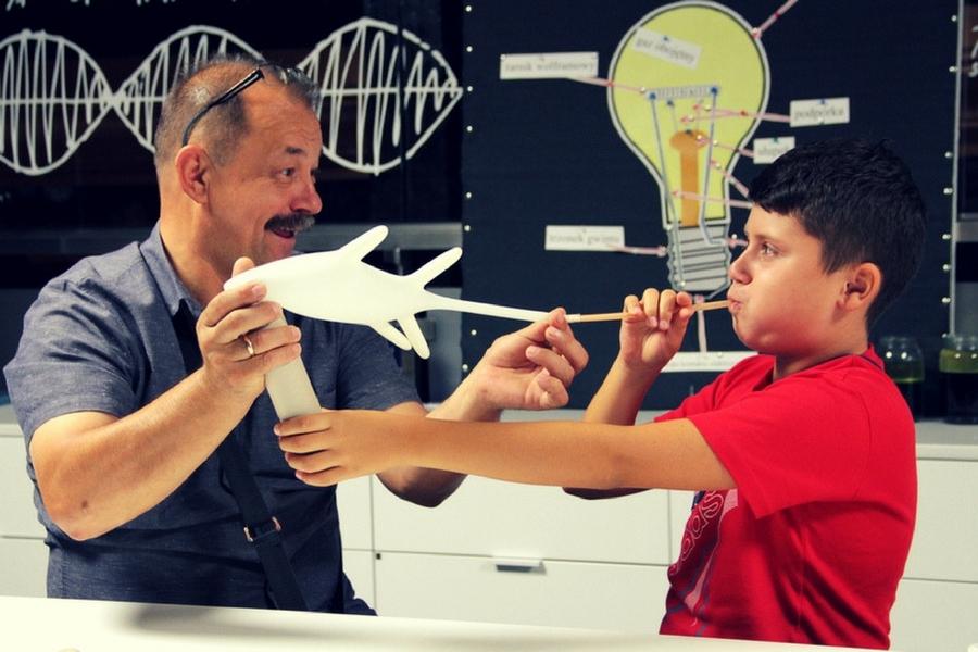 zajęcia familijne w  Energetycznym Centrum Nauki