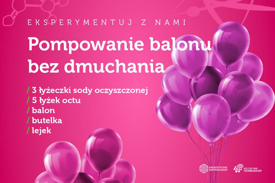 Pompowanie balonu bez dmuchania, składniki: soda oczyszczona 3 łyżeczki, ocet 5 łyżek, balon, butelka, lejek