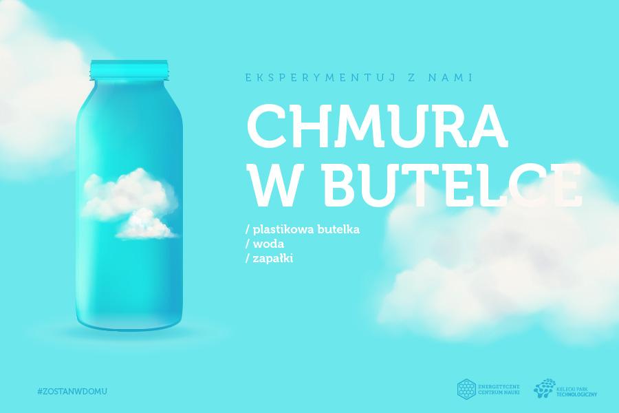 Chmura w butelce, składniki: plastikowa butelka, woda, zapałki