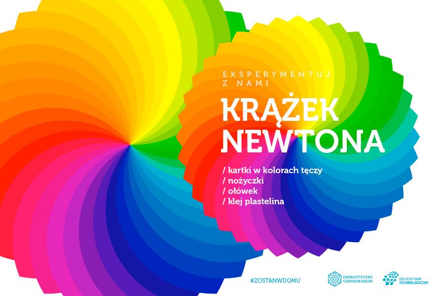Krążek Newtona, składniki: kartki w kolorach tęczy, nożyczki, ołówek, klej, plastelina