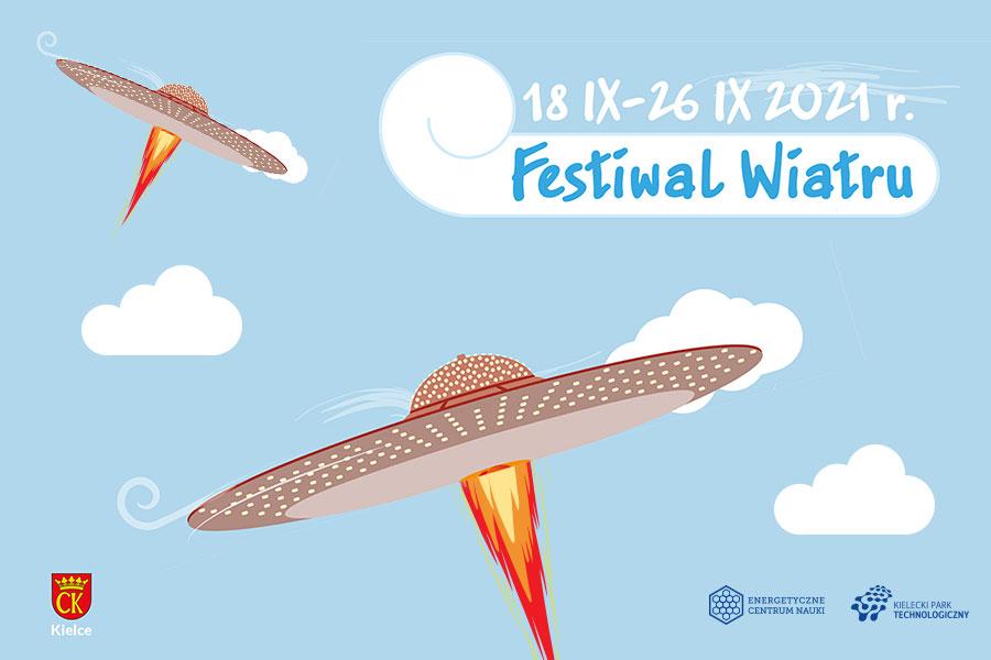 grafika z napisem festiwal wiatru